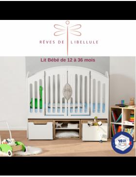 White Complete Baby Room Lit'bellule  - 6