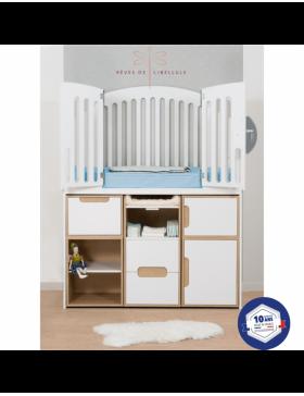 White Complete Baby Room Lit'bellule  - 7