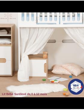 La chambre bébé complète blanche Lit'bellule  - 8