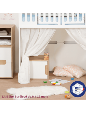 White Complete Baby Room Lit'bellule  - 8